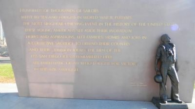 USS San Diego Memorial Marker Panel 6 image. Click for full size.