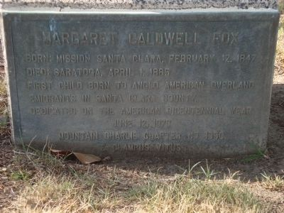 Margaret Caldwell Fox Marker image. Click for full size.