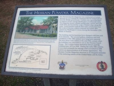 The Hessian Powder Magazine Marker image. Click for full size.
