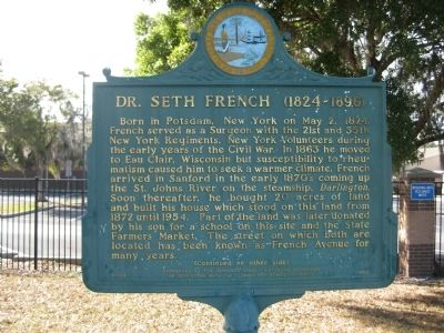 Dr. Seth French (1824-1896) Marker image. Click for full size.