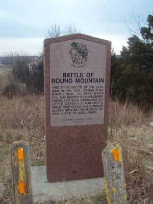 Battle of Round Mountain Marker image. Click for full size.