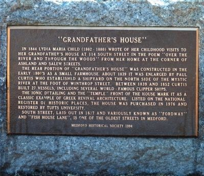"""Grandfather's House"" Marker image. Click for full size."