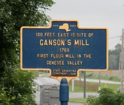 Ganson's Mill Marker image. Click for full size.