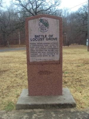 Battle of Locust Grove Marker image. Click for full size.