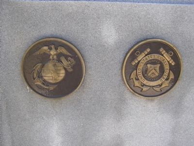 The Marine Corps and Coast Guard Emblems image. Click for full size.