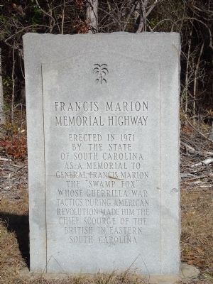 Francis Marion Memorial Highway Marker image. Click for full size.