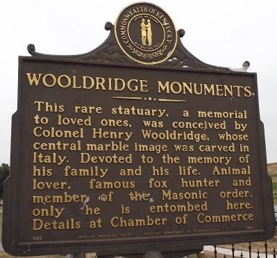 Wooldridge Monuments Marker (reverse) image. Click for full size.