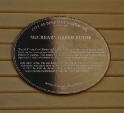 McCreary-Greer House Marker image. Click for full size.
