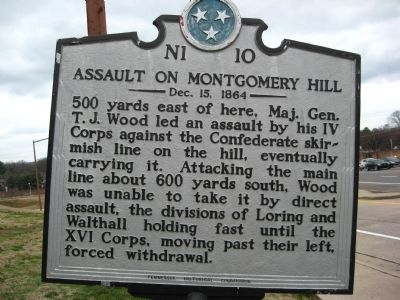 Assault on Montgomery Hill Marker image. Click for full size.