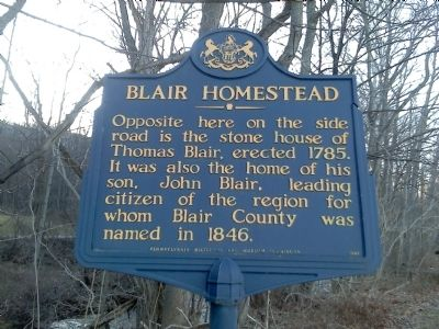 Blair Homestead Marker image. Click for full size.