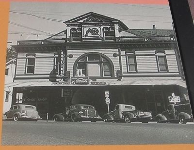 The Auburn Opera House - Photo Displayed on Marker image. Click for full size.
