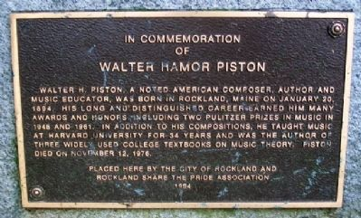 Walter Hamor Piston Marker image. Click for full size.