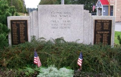 Owl's Head Veterans Memorial (Side A) image. Click for full size.