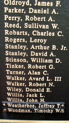 Owl's Head Veterans Memorial Vietnam Honor Roll image. Click for full size.