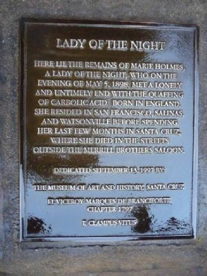 Lady of the Night Marker image. Click for full size.