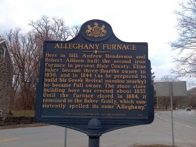 Alleghany Furnace Marker image. Click for full size.