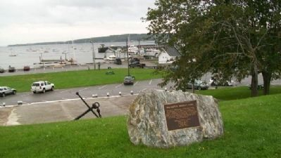 Rockland Harbor from Mildred B. Merrill Park image. Click for full size.