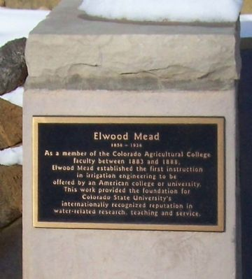 Elwood Mead Marker image. Click for full size.