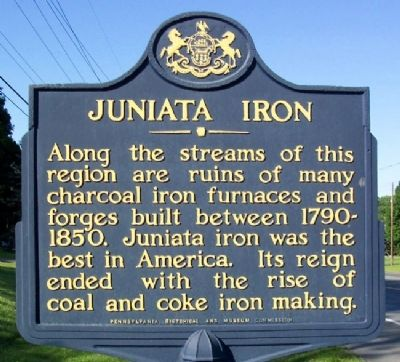 Juniata Iron Marker Photo, Click for full size