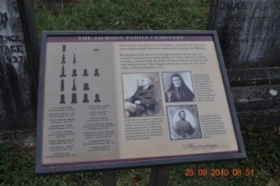 The Jackson Family Cemetery Marker image. Click for full size.