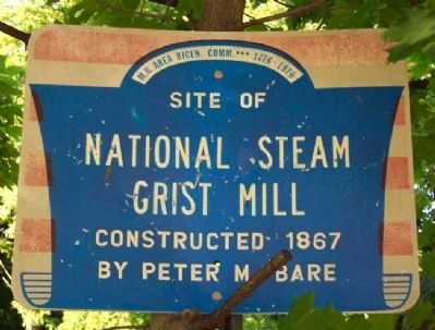 Site of National Steam Grist Mill Marker image. Click for full size.