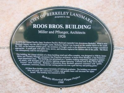 Roos Bros. Building Marker image. Click for full size.