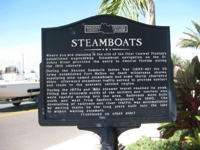 Steamboats Marker image. Click for full size.