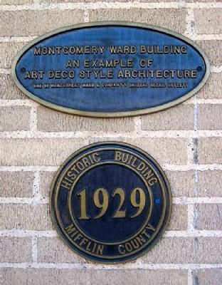 Montgomery Ward Building Marker image. Click for full size.