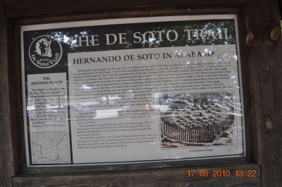 De Sota Trail Marker Photo, Click for full size