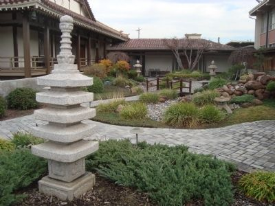 Garden next to the Buddhist Temple image. Click for full size.