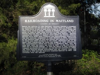 Railroading in Maitland Marker image. Click for full size.