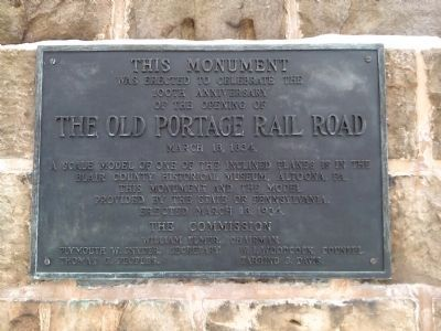 The Old Portage Rail Road Monument Marker image. Click for full size.
