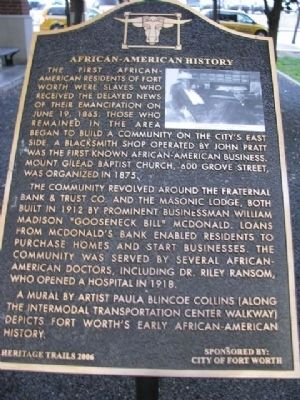 African-American History Marker image. Click for full size.