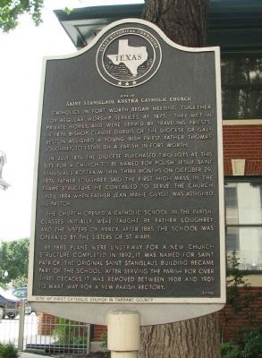 Site of Saint Stanislaus Kostka Catholic Church Marker image. Click for full size.
