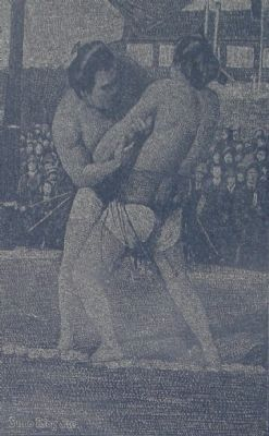 Detail from the Sumo Ring Site Marker image. Click for full size.