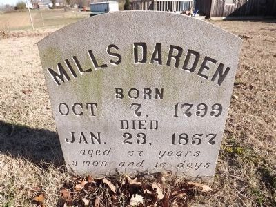 Mills Darden Grave Marker image. Click for full size.