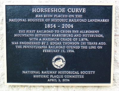 Horseshoe Curve Marker Photo, Click for full size