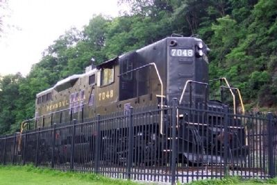 Diesel on Display at Horseshoe Curve Photo, Click for full size
