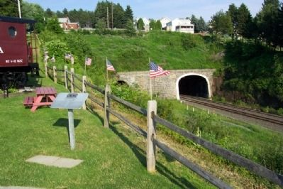 Gallitzin Tunnels and Marker image. Click for full size.