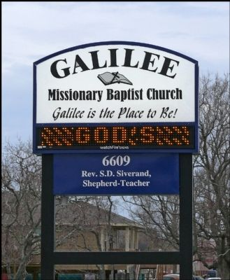 Galilee Missionary Baptist Church Marquee image. Click for full size.