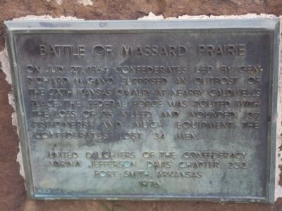 Battle of Massard Prairie Marker image. Click for full size.