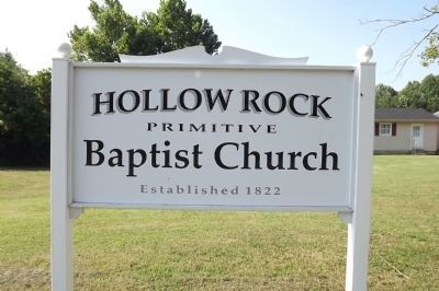 Hollow Rock Church Sign image. Click for full size.