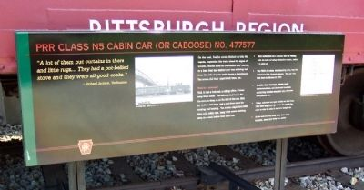 PRR Class N5 Cabin Car (or Caboose) No. 477577 Marker image. Click for full size.