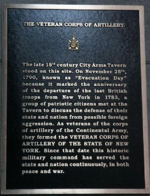 Veteran Corps of Artillery Marker Photo, Click for full size