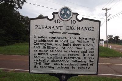 Pleasant Exchange Marker image. Click for full size.