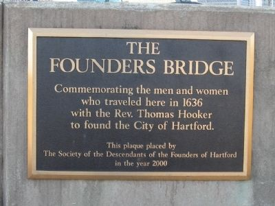 The Founders Bridge Marker image. Click for full size.
