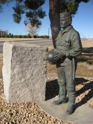 Sound Barrier Cracked Marker & Chuck Yeager Statue image. Click for full size.