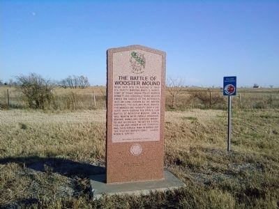 The Battle of Wooster Mound Marker image. Click for full size.