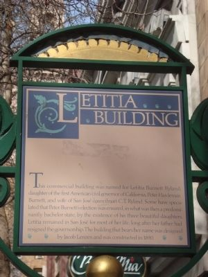 Letitia Building Marker image. Click for full size.