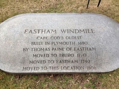 Eastham Windmill Marker image. Click for full size.